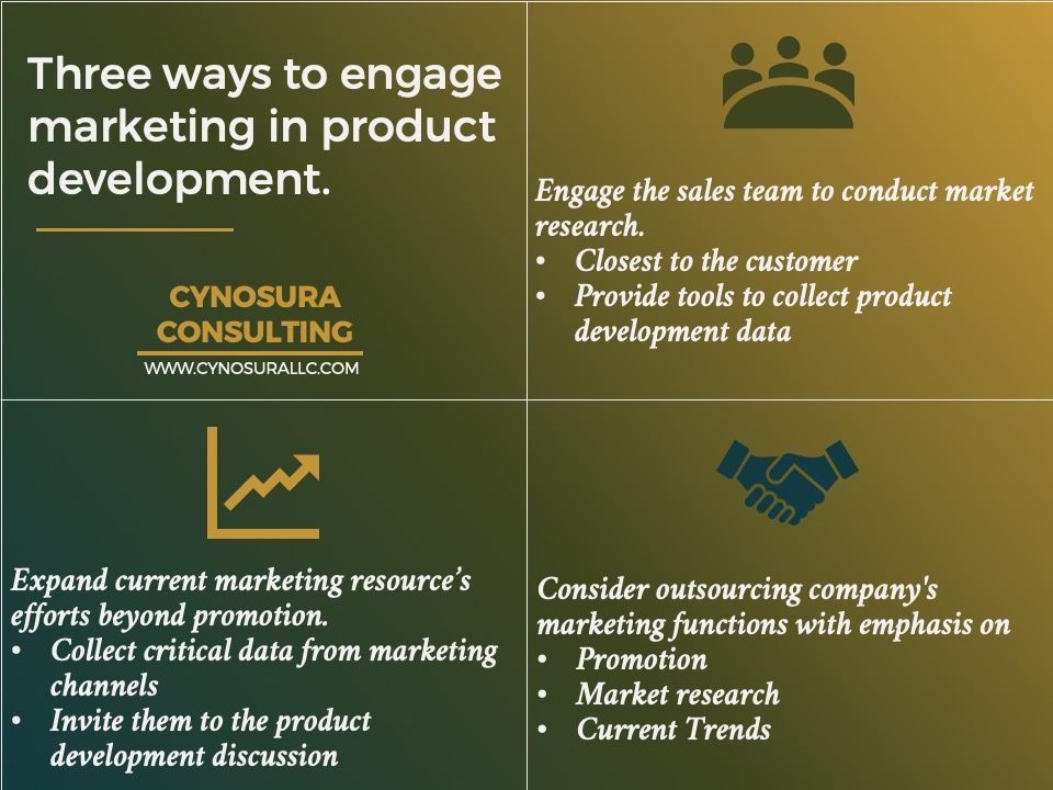 Three ways to engage marketing in product development