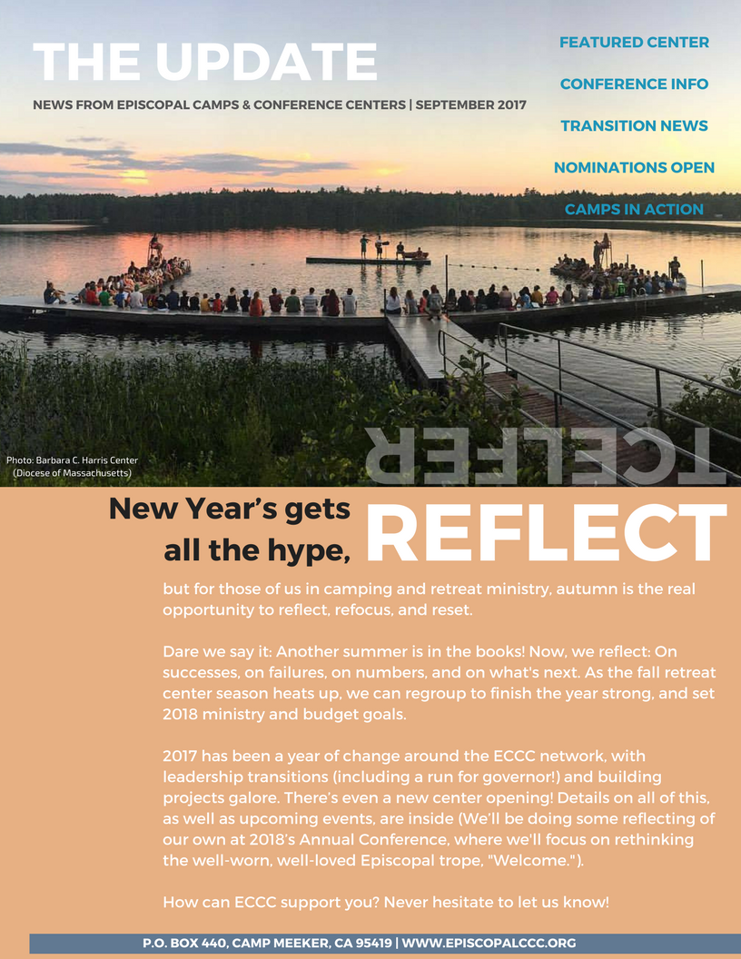 ECCC's annual newsletter was mailed this week. Read all about new construction at Calvary Camp in Ohio,  transitions around ECCC, and more news from around the network.