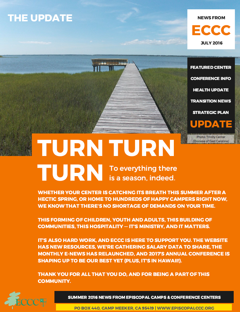 ECCC's annual newsletter was mailed this week! Catch up on news from around the network.