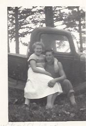 Eugene Boyd Gauger and his wife Nila Fay Hungerford Gauger - Spring 1951