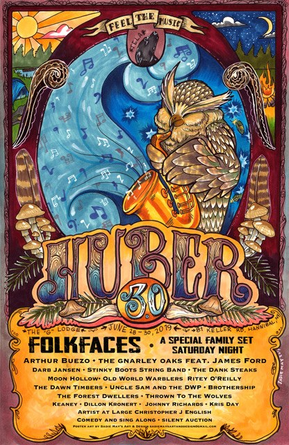 """Huber 3.0 - June 28th, 29th & 30th, 2019In support of Christopher Baldowski and the Baldowski family.Hosted by Dump Love""""HUBER 3.0 is an event for friends and family to come together as such. It's a weekend to enjoy the life we live with those we love. The life we love of course includes music. As in the past, we pride ourselves in bringing you ear pleasure beyond belief.""""Contact Scott Huber or Colleen Bielemeier to get your ticket today!"""