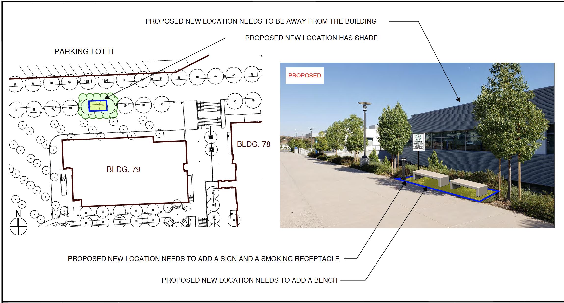 Proposed designated smoking area 6