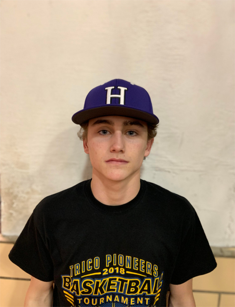 "Ben Brombaugh   So. OF/P  Son of Matt and Amy Brombaugh  Favorite class: History  Favorite teacher: Ms. Hughes  Favorite MLB player: Billy Hamilton  Favorite movie: The Waterboy  Hobbies: Fishing, card collecting  Other sports: Basketball and golf  Coach's comment: ""Ben is a tremendous outfielder with a very strong arm. He is also very fast and is a good baserunner. He is a tough kid and a fierce competitor. He will compete for a starting job."""