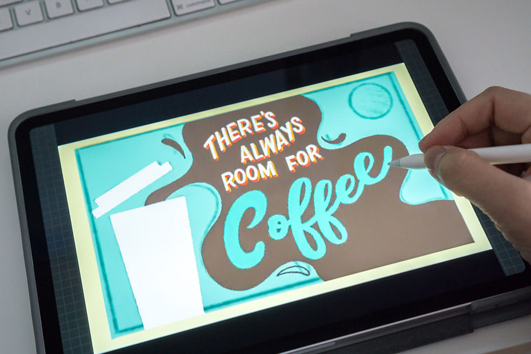 Starbucks gift card process on Procreate   Belinda Kou Lettering & Design   Chicago artist