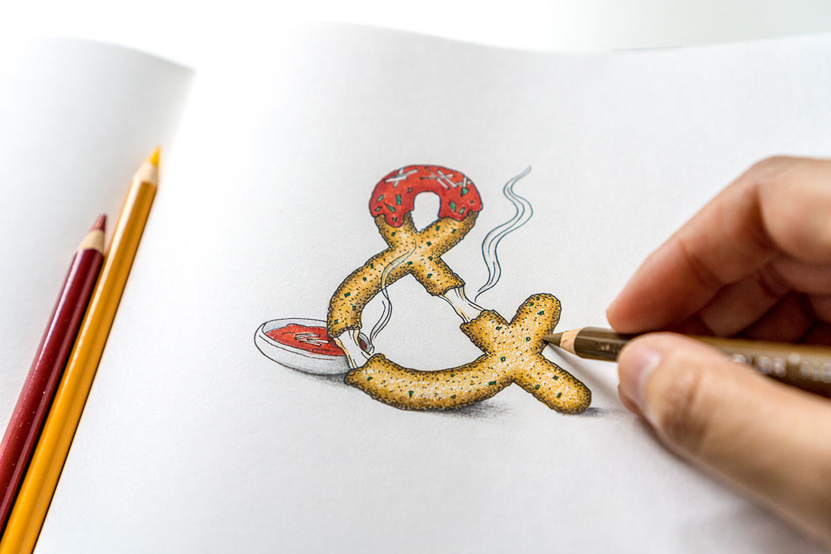 100-days-of-lettering-cheesy-ampersand