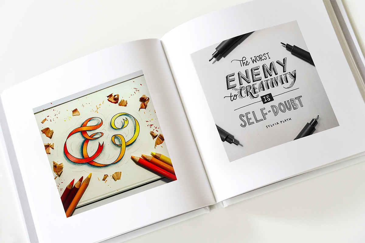 100-days-of-lettering-book-spread-ribbon-ampersand-and-creativity-quote