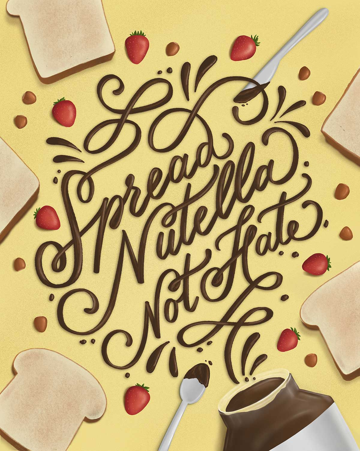 spread-nutella-not-hate-hand-lettering