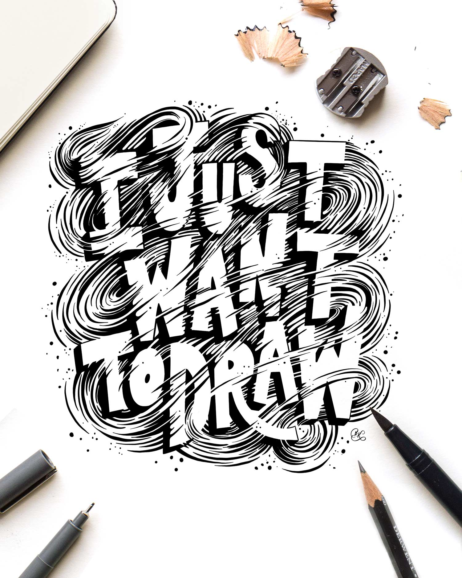 I-just-want-to-draw-hand-lettering