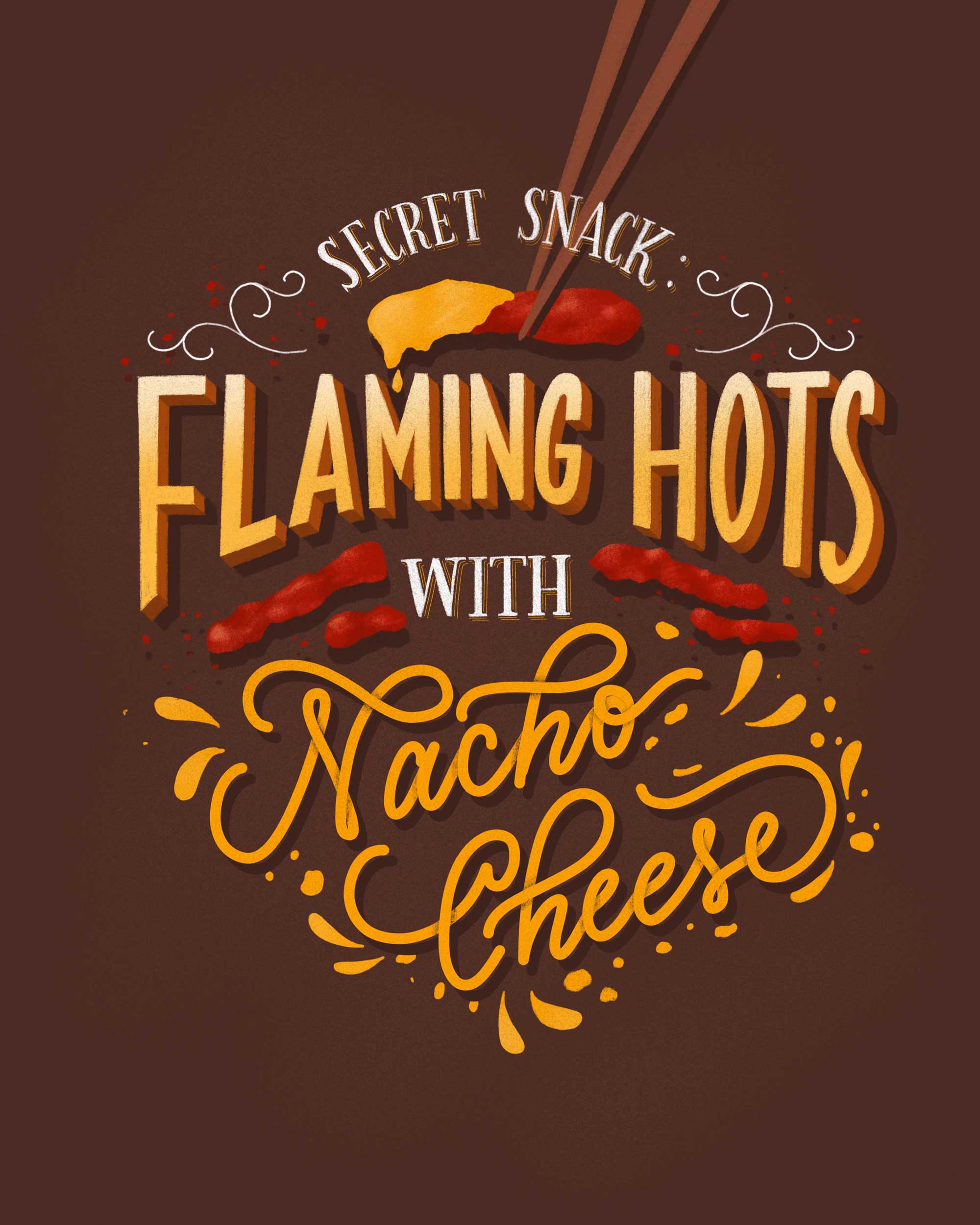 flaming-hots-nacho-cheese-lettering