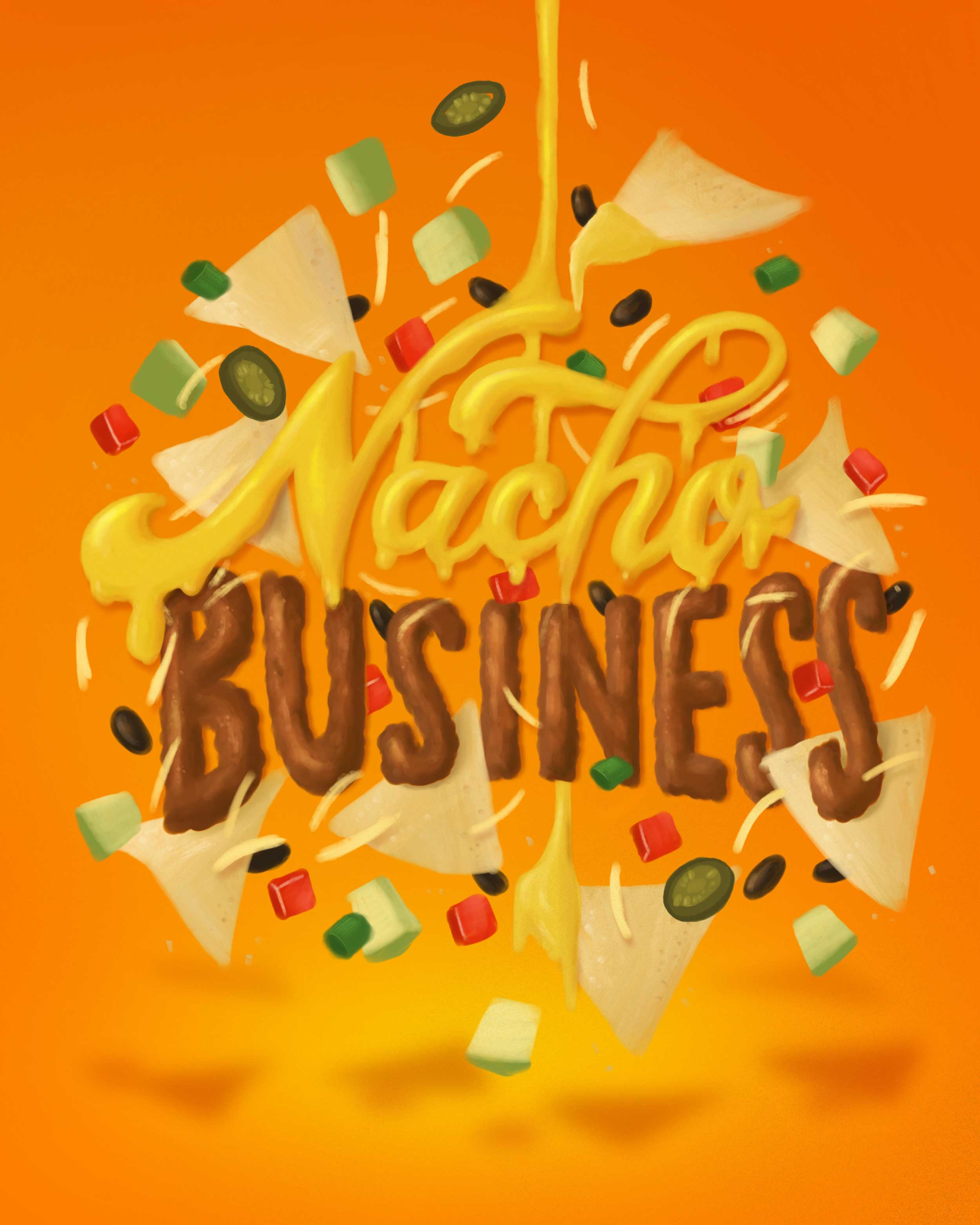 nacho-business-food-lettering