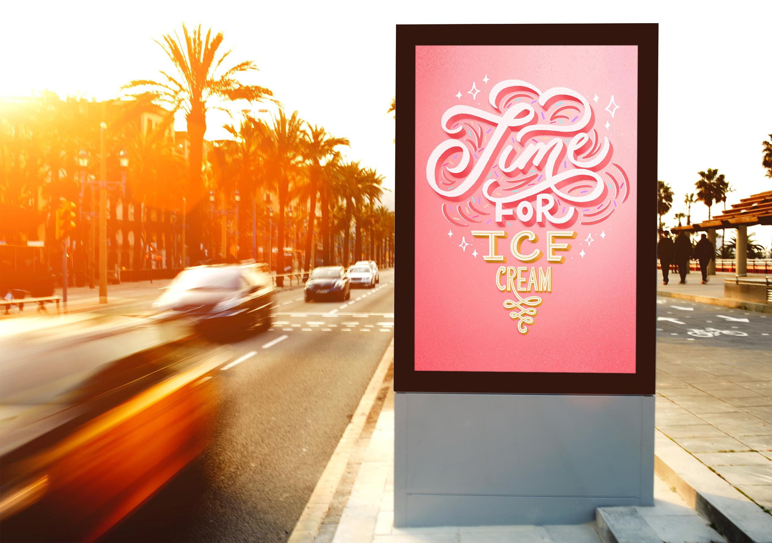 time-to-eat-ice-cream-billboard