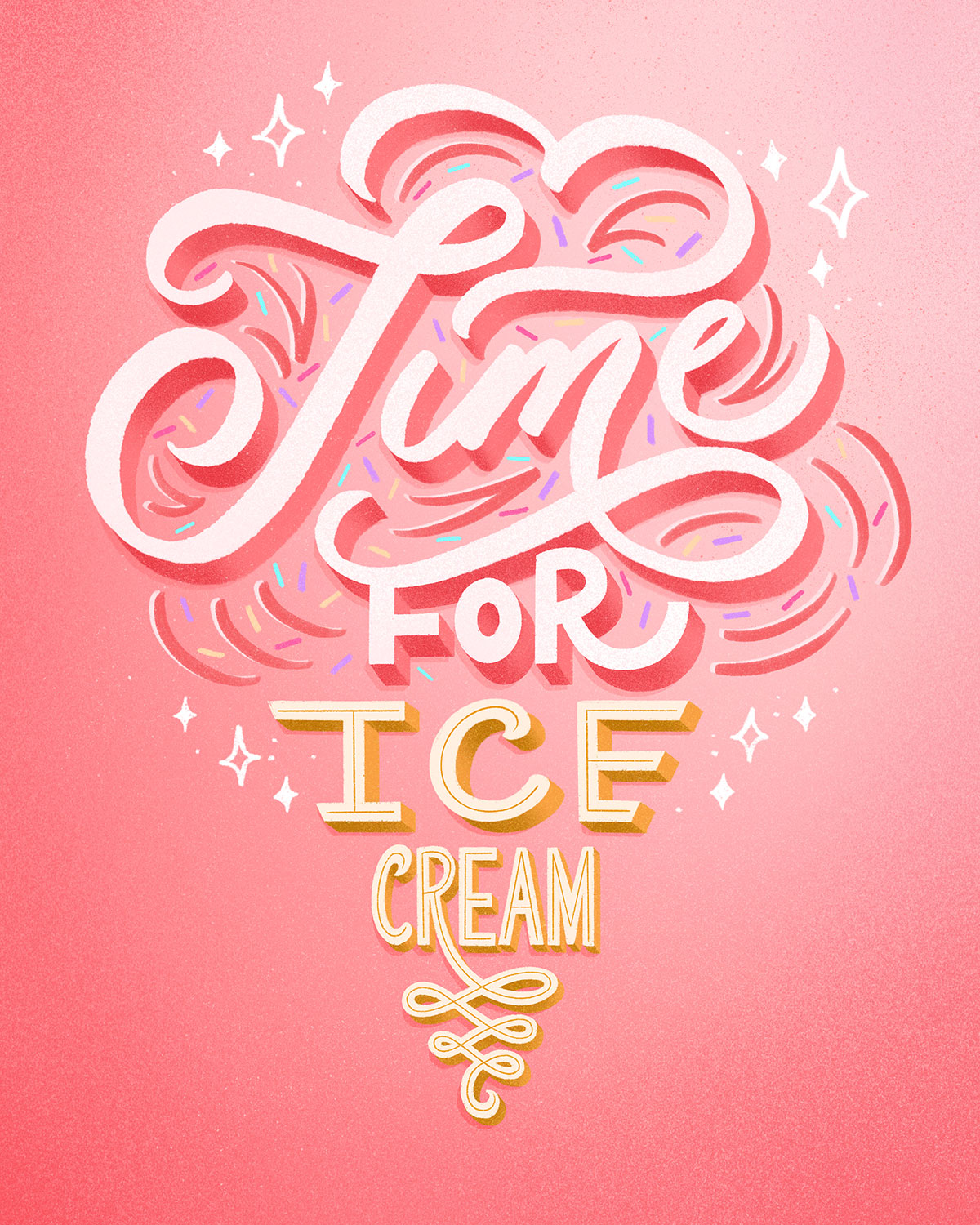 time-for-ice-cream-lettering