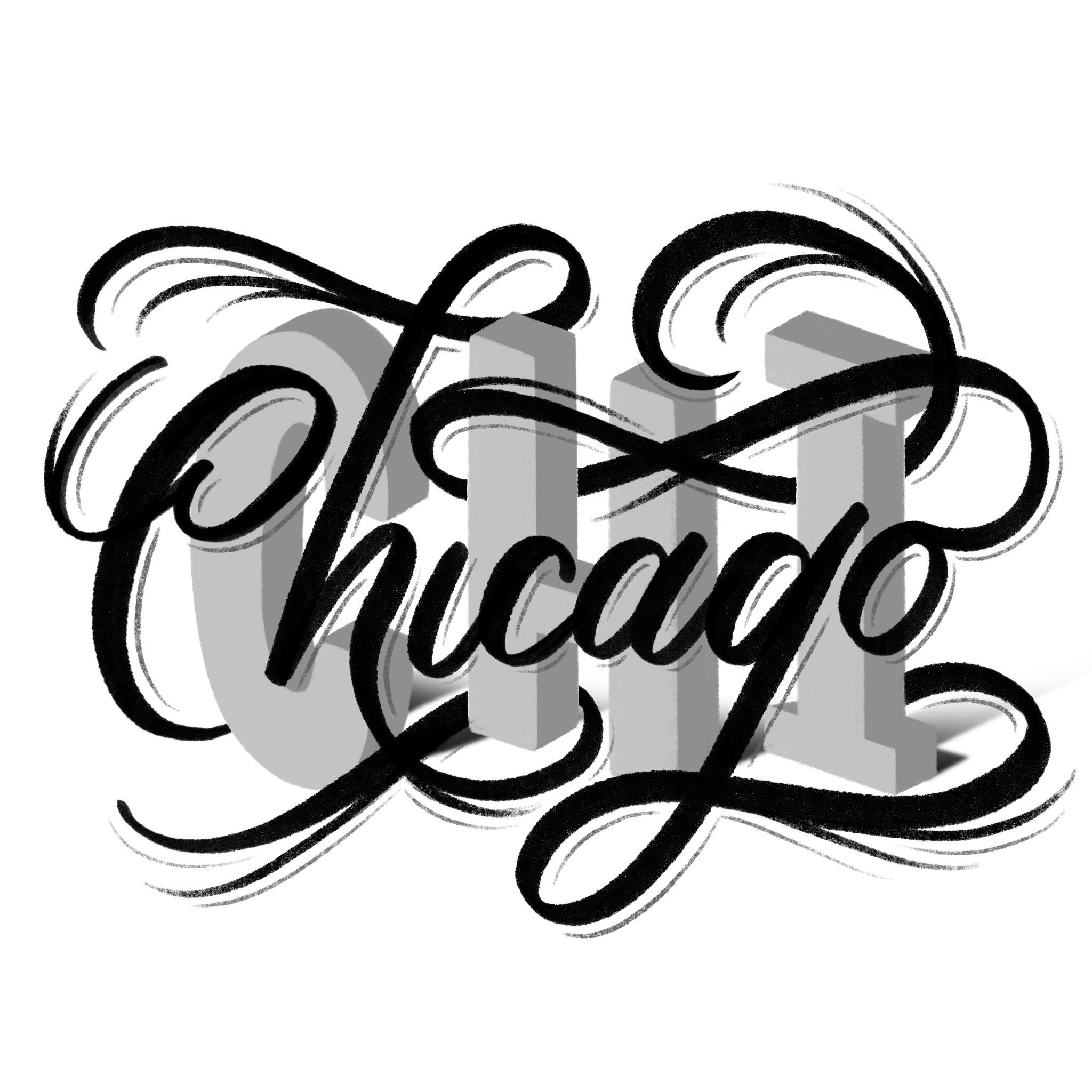 Chicago lettering sketch concept for Washington Post | Belinda Kou Lettering & Design | Chicago artist