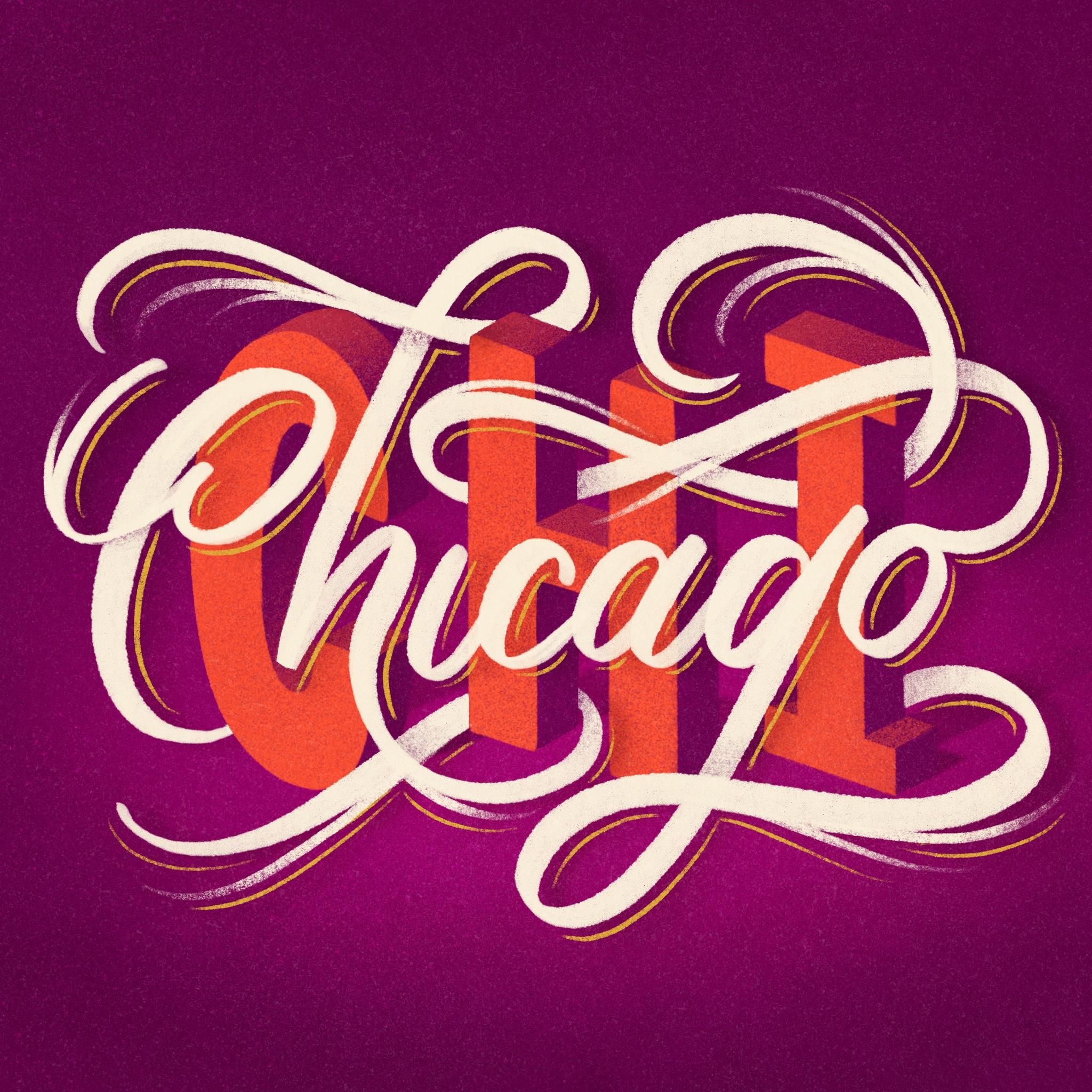 Chicago Lettering digital final for Washing Post | Belinda Kou Lettering & Design | Chicago artist