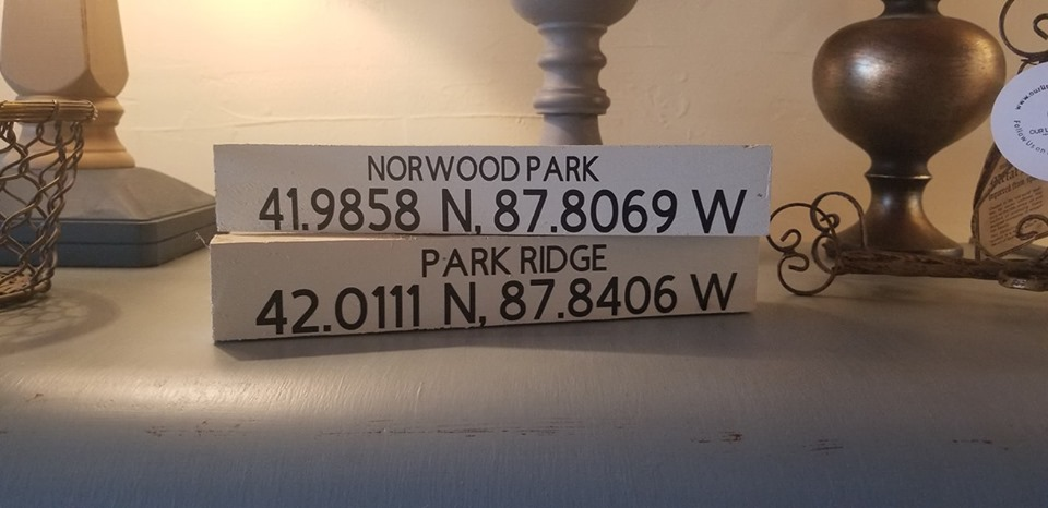 These signs can be customized with coordinates for any location!
