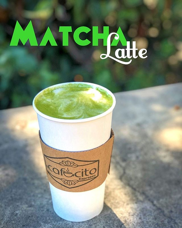 Now serving Matcha latte! 🍵  Hot or iced! 😛