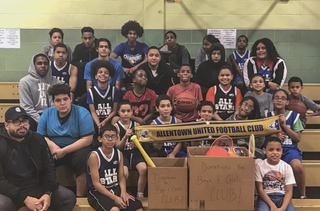 AUFC give back to Boys and Girls Club of  Allentown