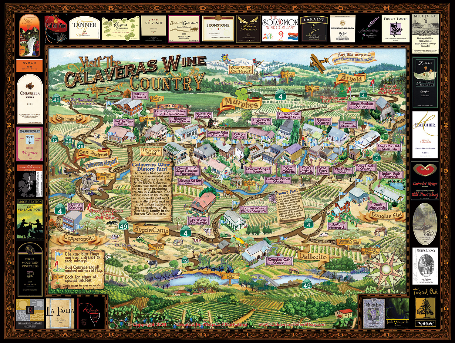 Calaveras Wine Map