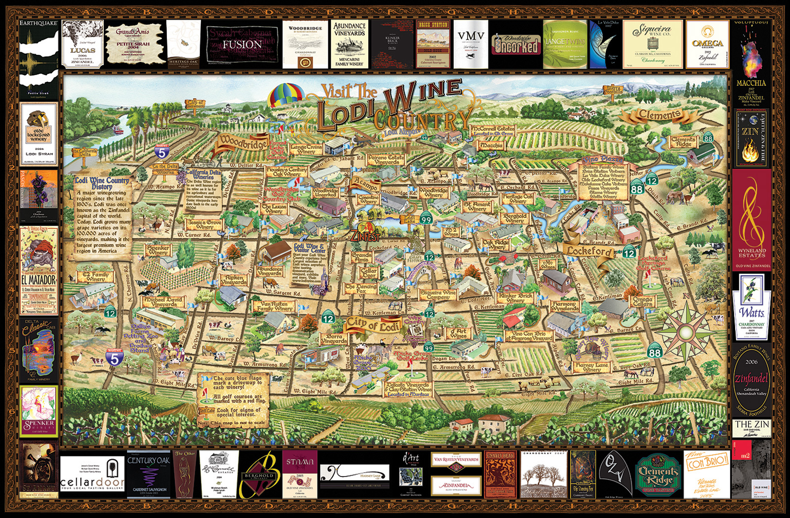 Lodi Wine Map