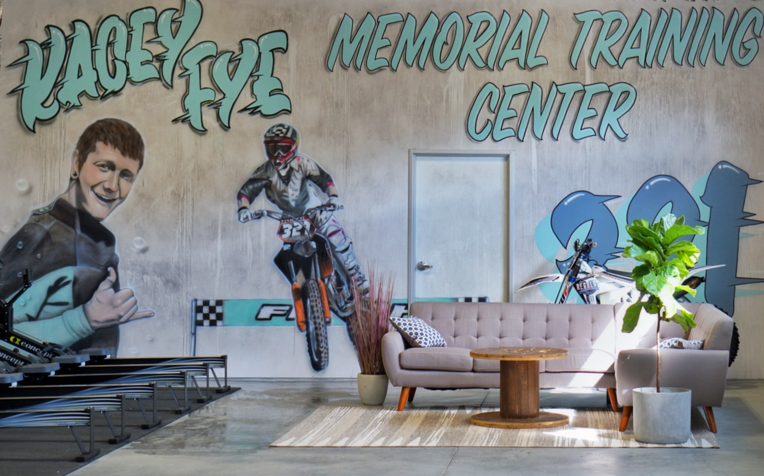The Kacey Fye Memorial Training Center Mural - Darin Stockwell, 2019