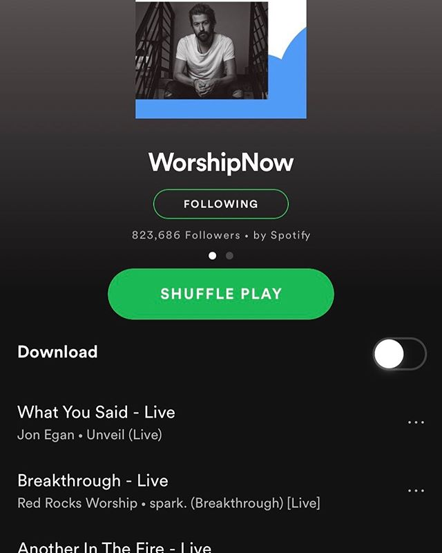 "HEYO!! ""What You Said"" made the top of @spotify's worship playlist.  Praise God the songs are landing on hearts and ears.  EVERYTHING HE DOES IS GOOD!  That is true regardless of any playlist or chart or industry. . 🎉 #unveilalbum"