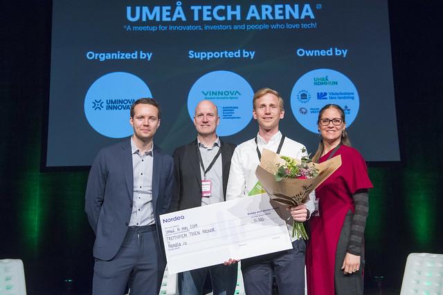 Vinnare på Umeå Tech Arena. - Vi vann pitchtävlingen på Umeå Tech Arena under våren 2019.