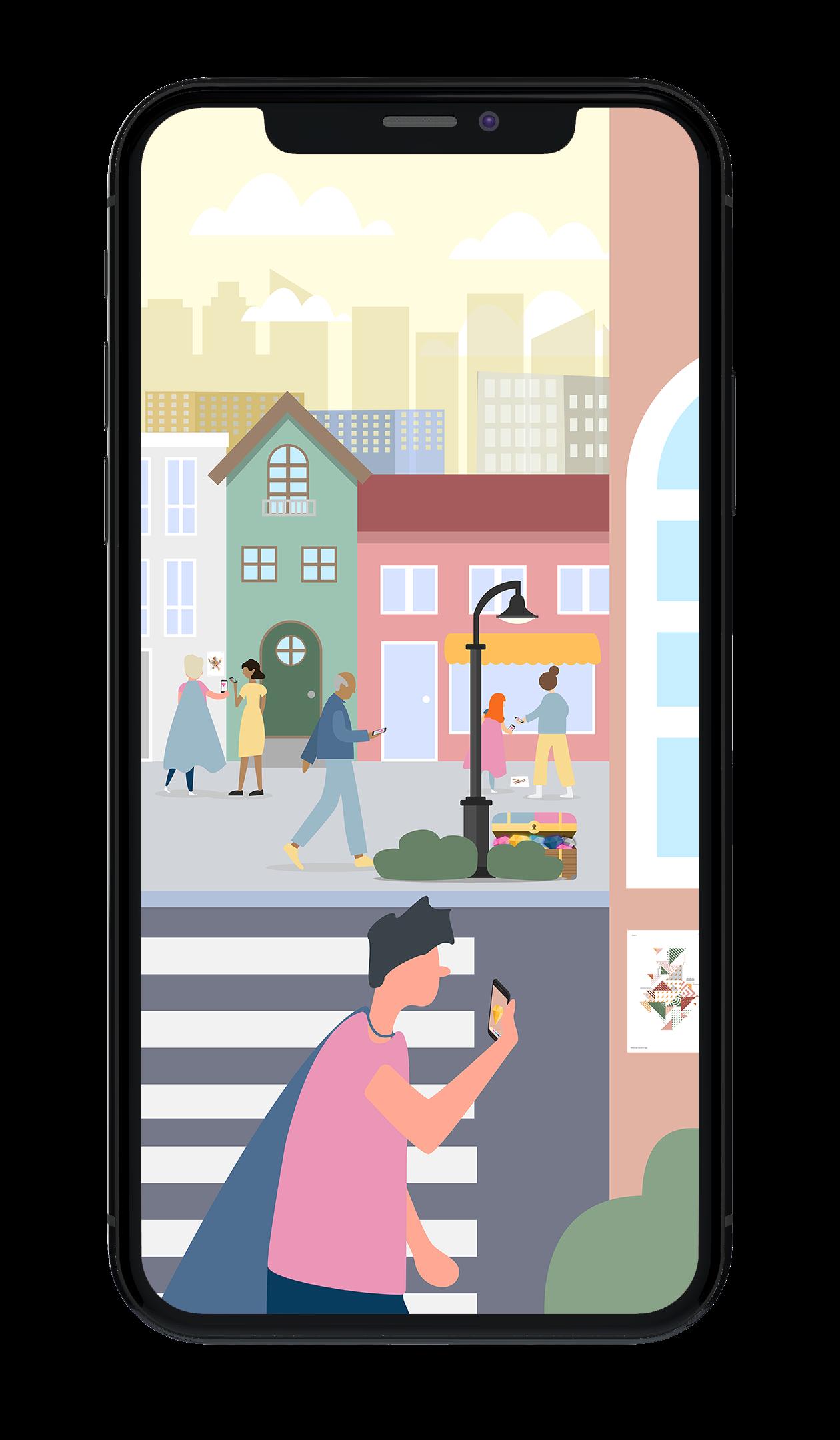 Treasure - Digitala utmaningar i augmented reality som aktiverar, engagerar och konverterar dina besökare till kunder.