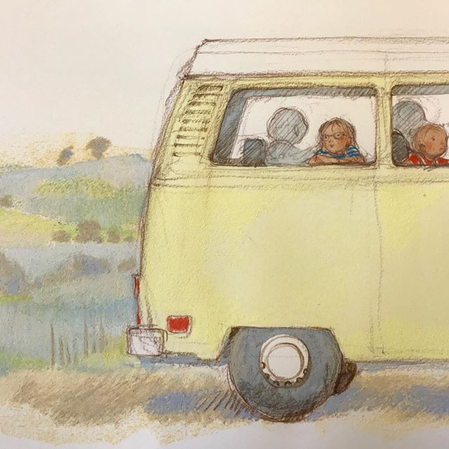 Another favourite vehicle from my childhood is starring in a book about my favourite adventures from childhood.