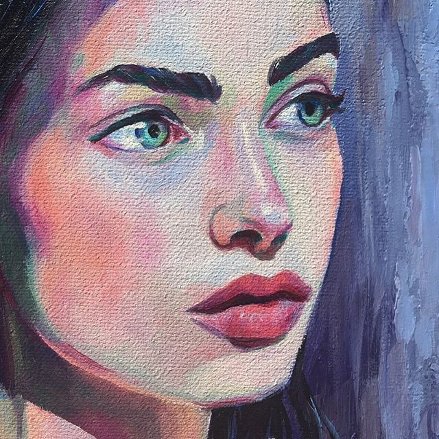 Details 🔍  #oilpaintings #popsurrealist #finishedpainting #artistsofinstagram #oilpainting #portrait #portraitpainting #popsurrealism #surrealism #art #artistsoninstagram #painting #portraiture #femaleartist #surrealart #closeup #details #gallery #collection