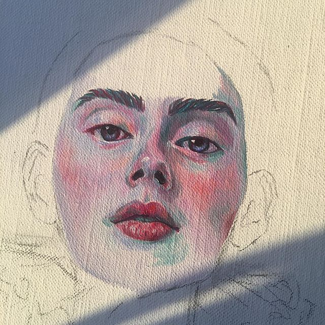 Something new 👀♦️♥️ #oilpaintings #popsurrealist #artistsofinstagram #oilpainting #popsurrealism #art #artistsoninstagram #painting #gallery #portrait #portraiture #portraitpainting #artwork #popsurrealart #colours #wip #surrealart