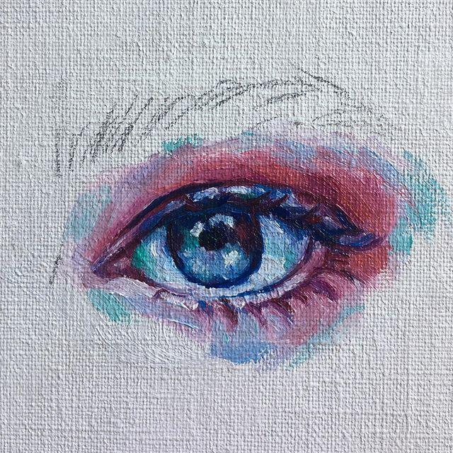 Eye study 👁✨ •  #oilpainting #popsurrealism #eyedrawing #illustration #portraitpainting #portraitartist #eyepainting #painting #oilpaint #art #artistsoninstagram #artistsofinstagram #popsurrealist #eye #artwork🎨 #👁 #femaleartist #surrealism #oils