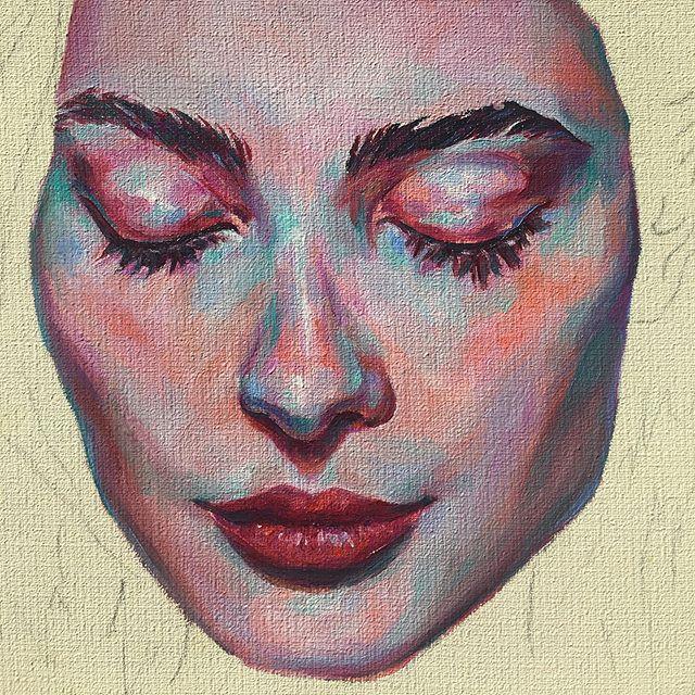 WIP •  #art #oilpainting #wip #oils #oilonboard #artistsoninstagram #artistsofinstagram #painting #popsurrealism #popsurrealist #artwork #workinprogress #portrait #portraitpainting #artofinstagram #portraitartist