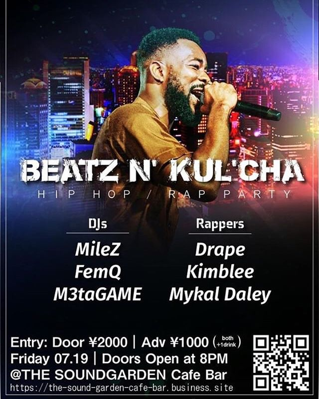 See you there! BEATZ N' KUL'CHA July 19! Hit me up for adv tickets 🎫  Let's have a blast 🚀  #kimblee #osaka #liveperformance #hiphop #randb #nyc #bronx