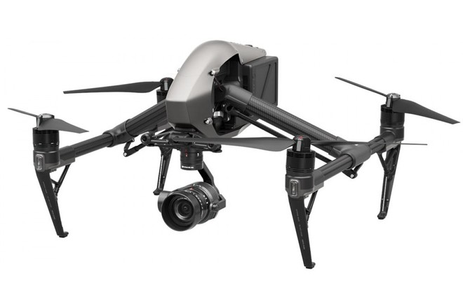 DJI Inspire 2 - Can be equipped with either the Zenmuse X5s or X7 cameras, with a variety of lenses, for high quality stills or 4K Prores or Raw video. Dual Operator.