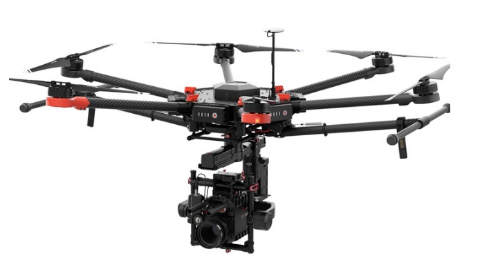 DJI M600 - Heavy lift drone for use with larger cameras such as our own Canon C200 (for 4K 60p raw) or the Red cameras or Alexa Mini. Can also be used for stills with a DSLR. Dual Operator.