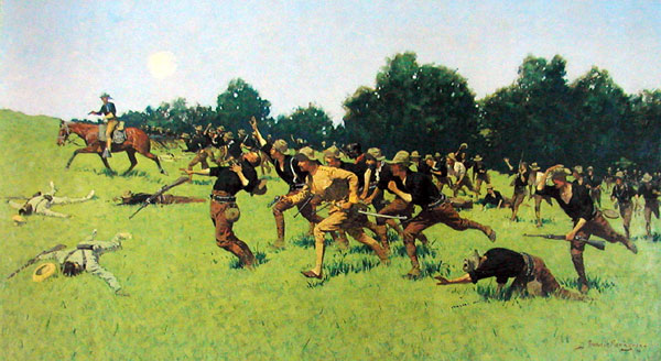 """Remington, """"Charge of the Rough Riders at San Juan Hill"""""""