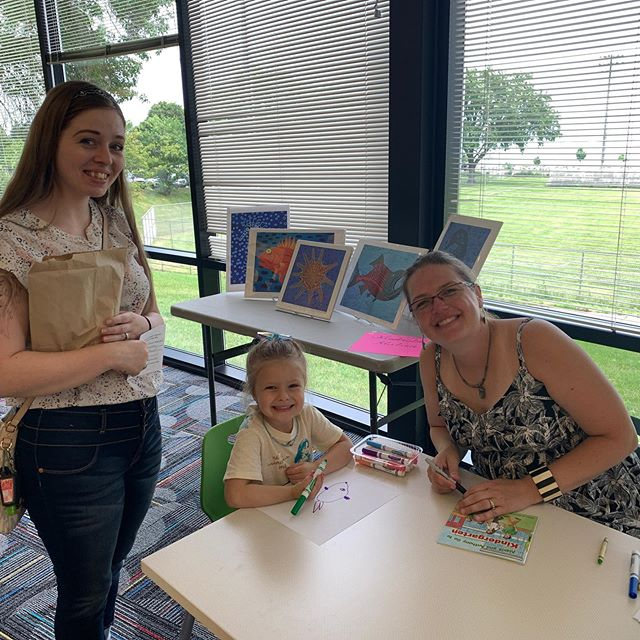 We had a great time at the library today with the Author and Illustrator of Anthony and Alexis Go to Kindergarten, wonderful volunteers, and families. We love any event where our youngest residents can have fun learning early literacy skills!