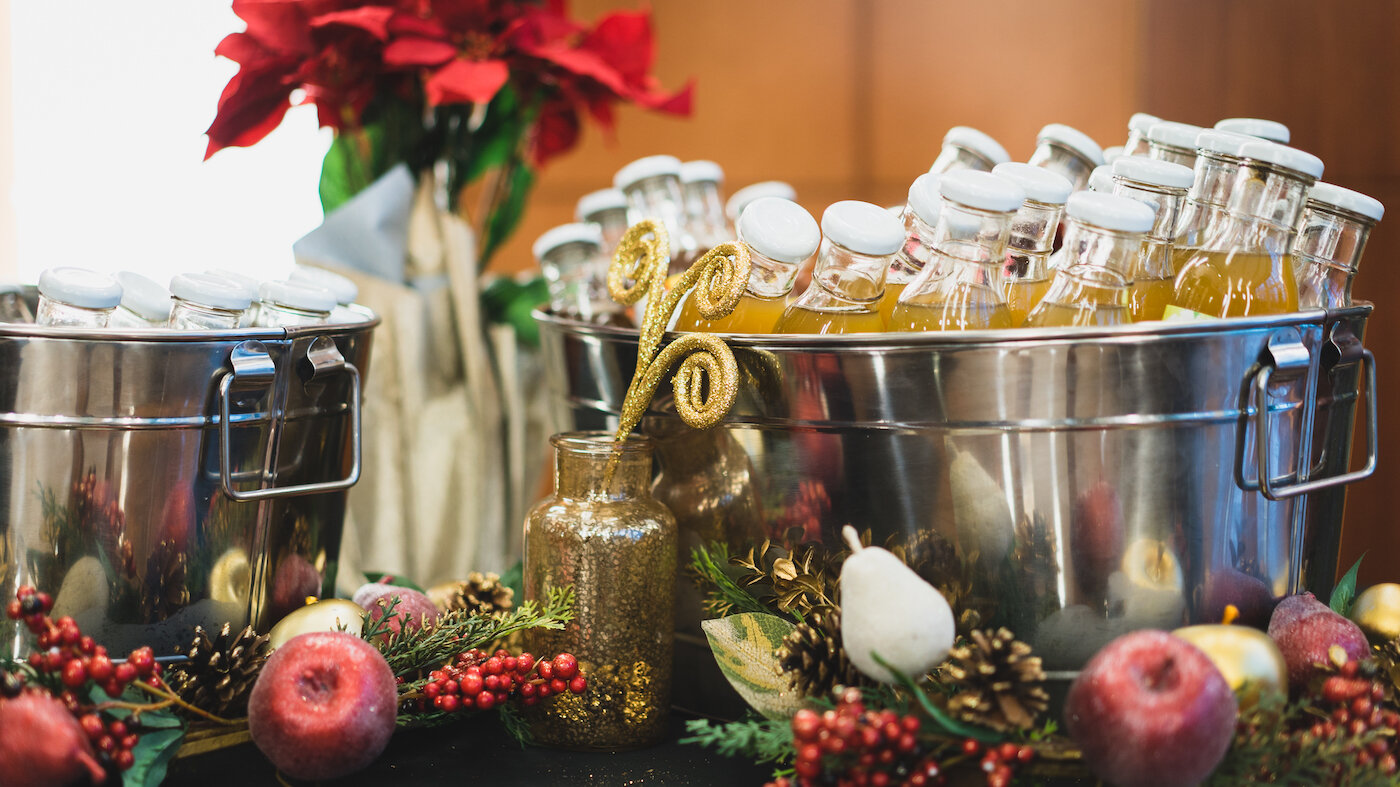 Full Service Holiday Party Catering - Food, Drinks, Merriment. We Supply Everything But The Mistletoe.