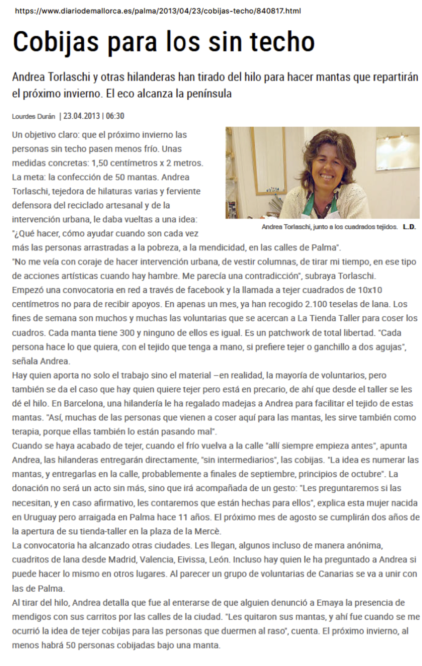 Cobijas para los sin techo - Diario de Mallorca.jpg