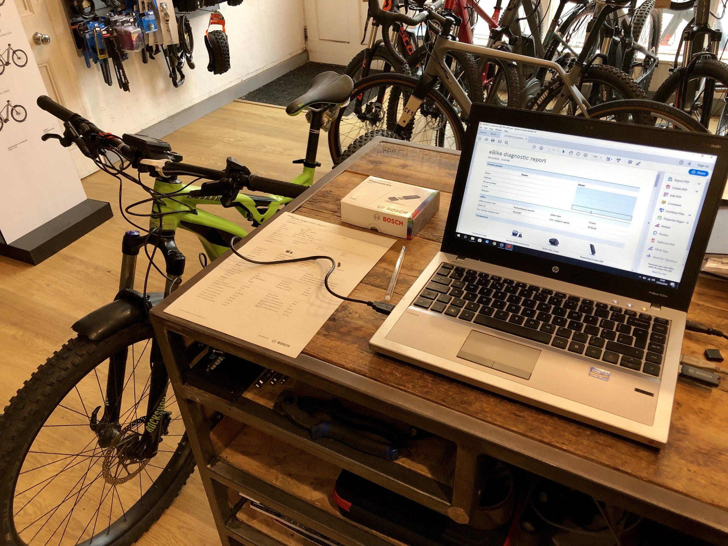 E bike Diagnostics - For Bosch and Shimano
