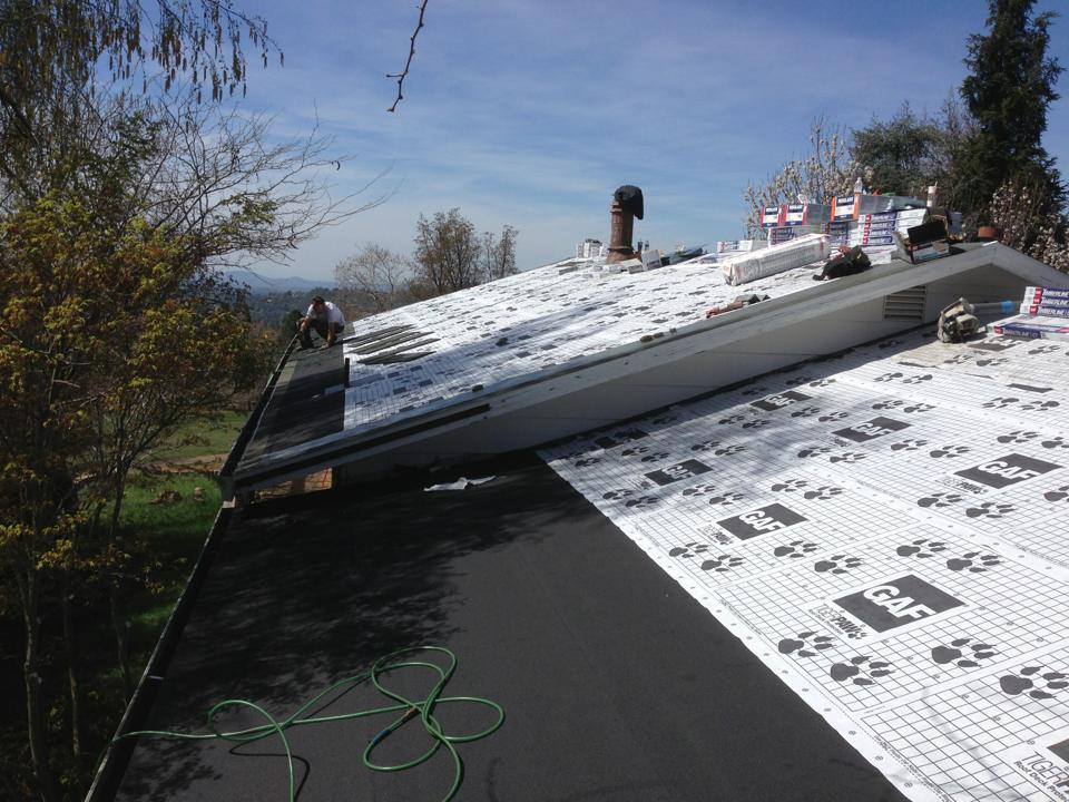 cool roof, roof insulation, dry rot, roof deck repair