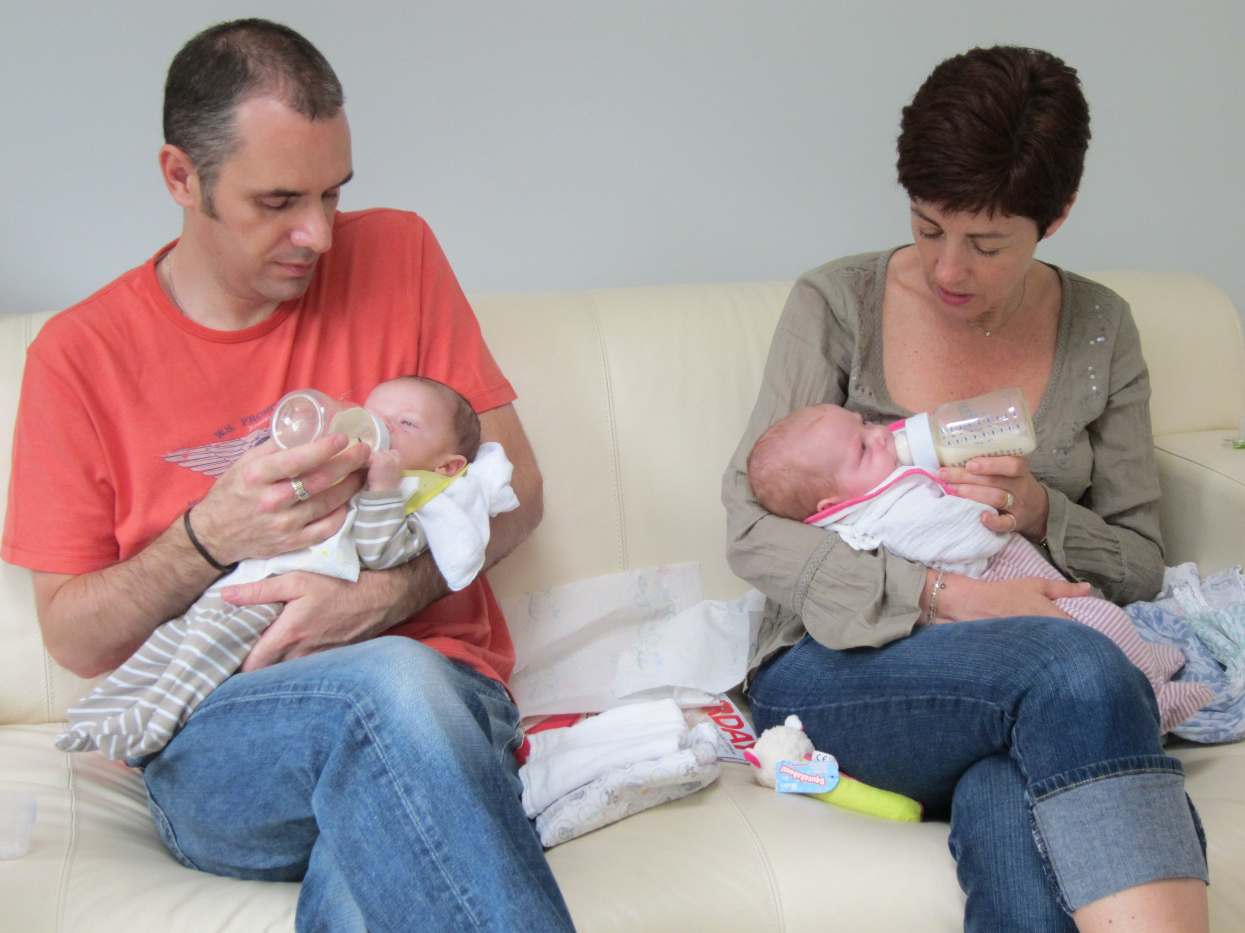 Jan & Alan with their babies