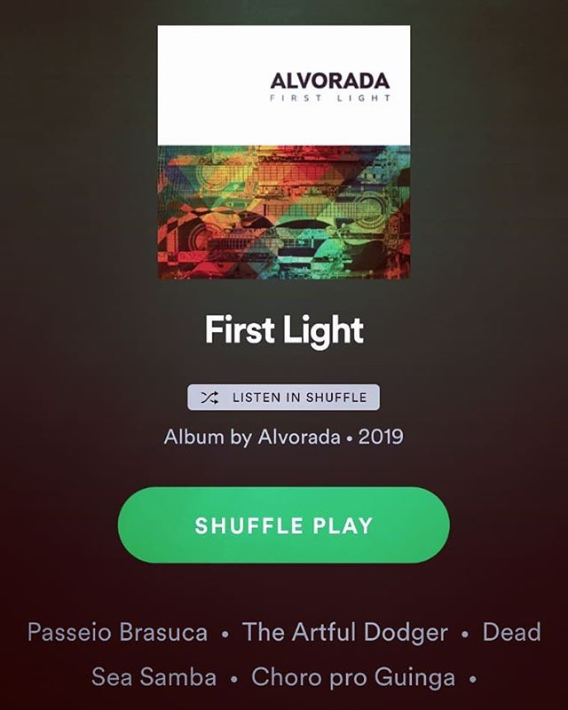 Available to stream from today! . Alvorada's debut album 'First Light' on Spotify, Google, Apple and Amazon Music. . #streaming #apple #spotify #google #amazon #music #choro #alvorada #firstlight #debutalbum #brazilianmusic #listen #originalmusic