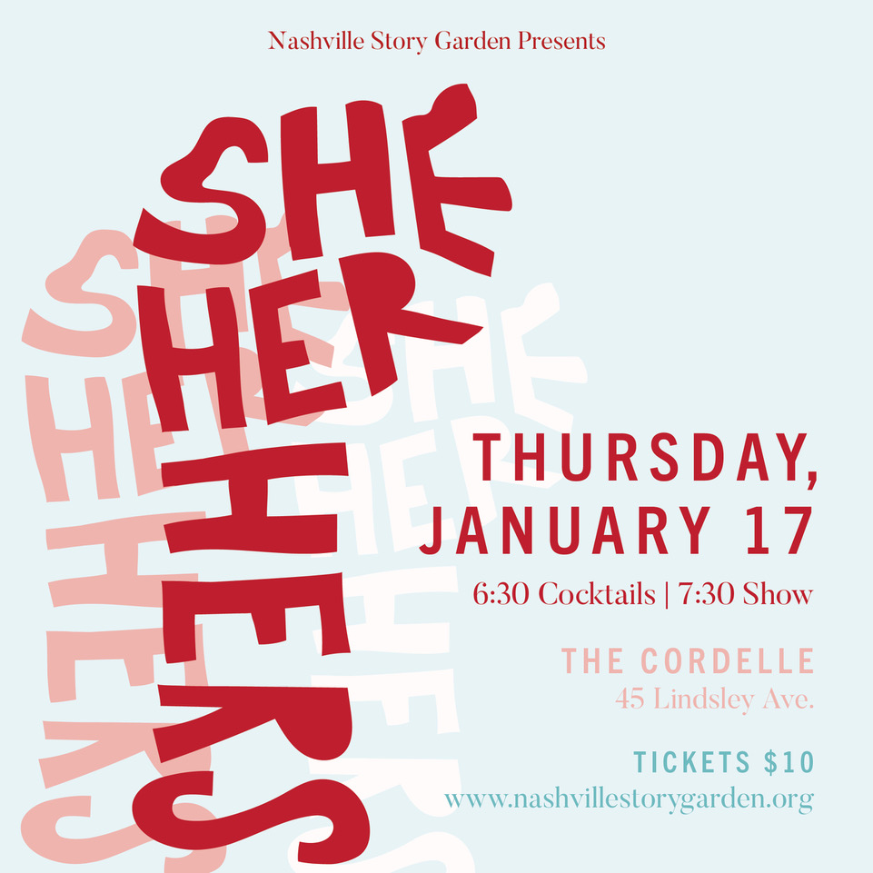 SHE/HER/HERS - January 17, 2019Writers: Nate Eppler, Edith Freni, Mary Donnet Johnson, Krista Knight, Drew MaynardDirectors: Lauren Berst, Evelyn O'Neal Brush, Jacklynn Jutting, Leah Lowe, René Millán Actors: Rachel Agee, Jessica Anderson, Amanda Card, Molly Breen, Tessa Bryant, Lori Fischer, Nealy Glenn, Diego Gomez, Alicia Haymer*, Denice Hicks, Patriq James, Paige Maynard, Nat McIntyre*, Becky WahlstromMusic: Megan Murphy Chambers and Jason Tucker
