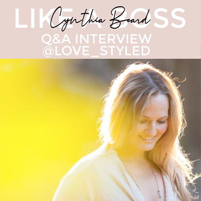[Sharing this on both of my accounts because it's that good!] New LIKE A BOSS interview up on the blog (if you're new to the series - these are interviews with women running their own businesses and influencing others in a big way in the process - whether that be through social media, branding, or mindset.  This week we learn from my life coach and friend, Cynthia Beard with @love_styled .  Cynthia works specifically with women and focuses on crossing the bridge from where you are in life to where you'd like to be with ease, peace, and grace.  She has been helping me work through some things that years of therapy and self-help books have only just scratched the surface of. She is the REAL DEAL when it comes to life coaching and I just knew I HAD to get her on the blog to share with you all.  Check out our interview by clicking the link in my bio!
