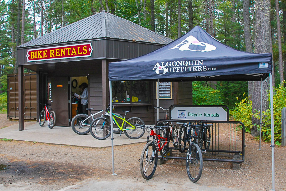 Algonquin Outfitters bike rentals.JPG