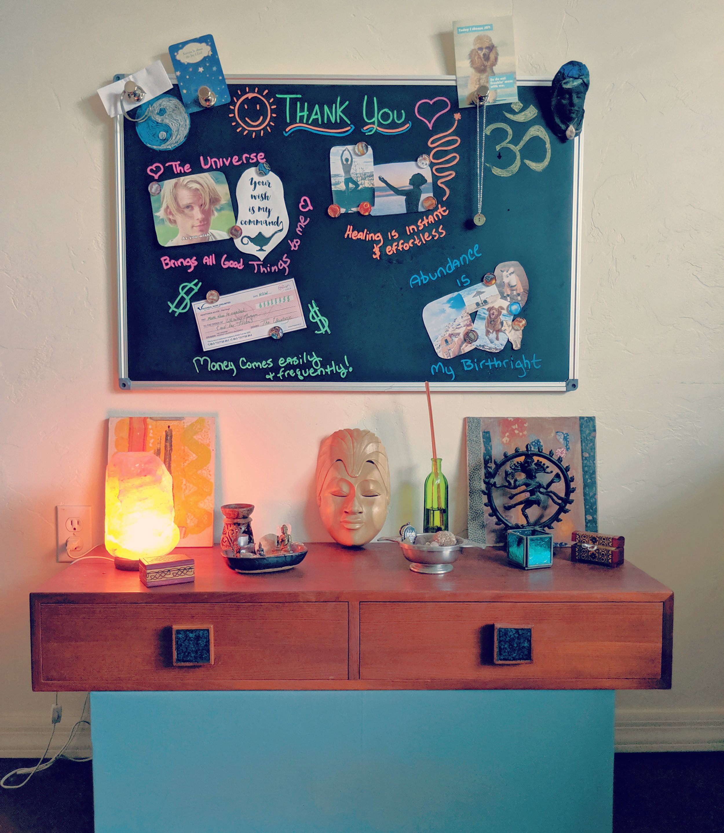 My sacred space - altar & vision board