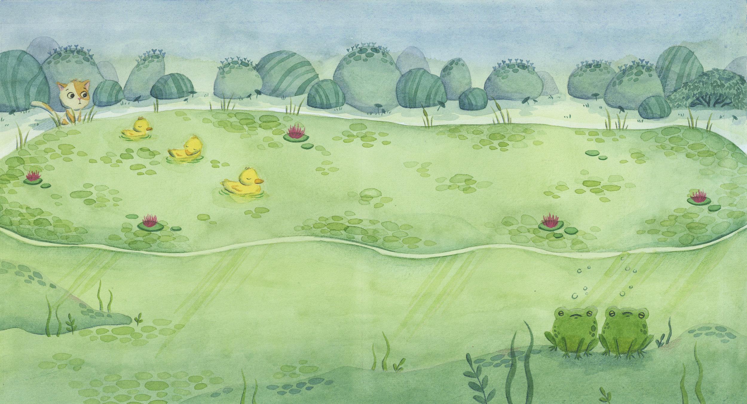 Children Illustration Pond Spread.jpg