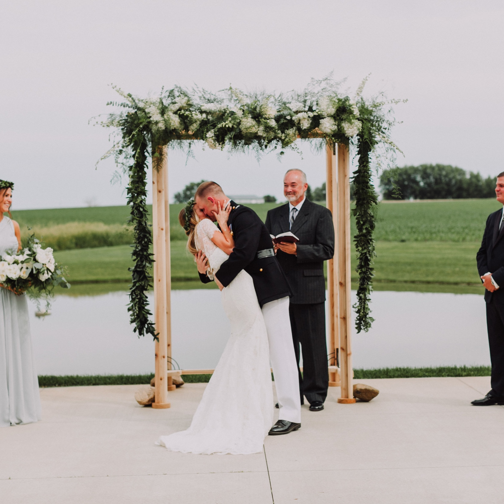 June Bug Weddings Feature - A MARINE AND A HIPPY TIE THE KNOT AT PEAR TREE ESTATEPhoto | Pam Cooley