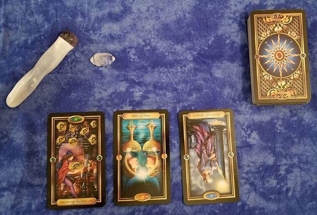Three cards for all of my loves out there, because it felt right. #tarot #tarotcards #reading #reikihealing #reiki #reikienergy #message #love